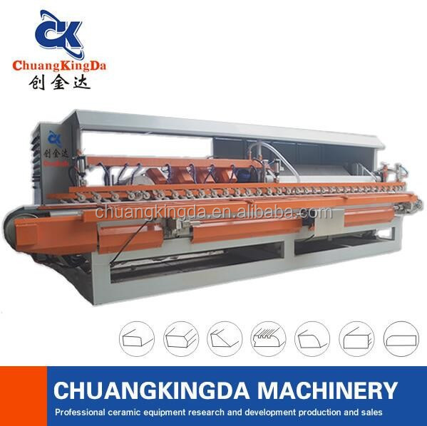 Made in china stair step skirting tile polishing machine/Ceramic tile marble granite arc polish machine