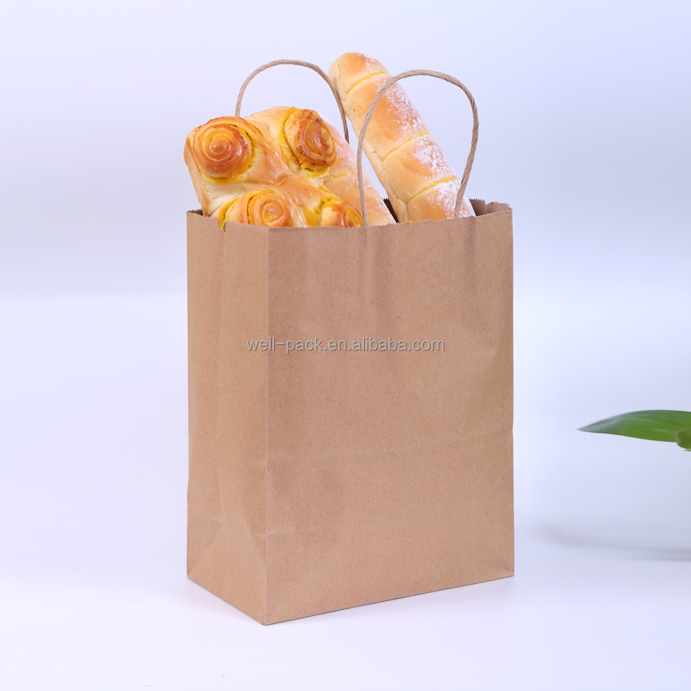 eco friendly disposable cheap price food grade paper bag for cake box