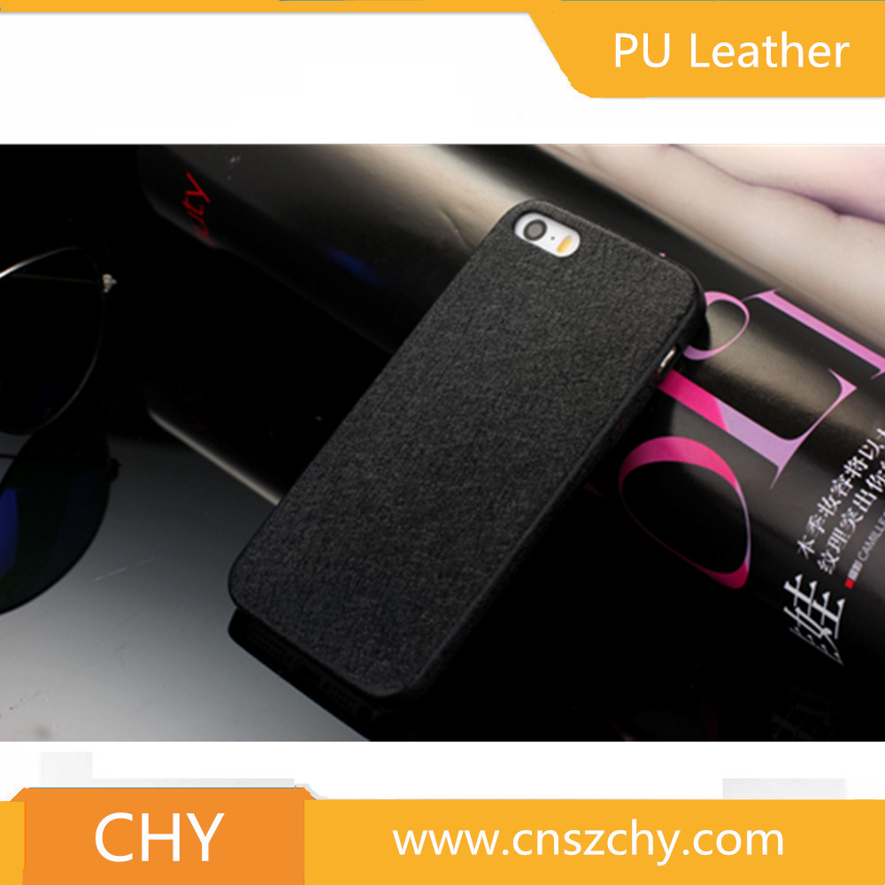 Luxury ultra thin soft pu leather silk skin back cover phone case for appl iphone 5 5s