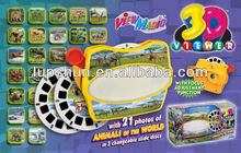 Plastic Film / Slide / Disc 3D Sterescopic Toy Viewer