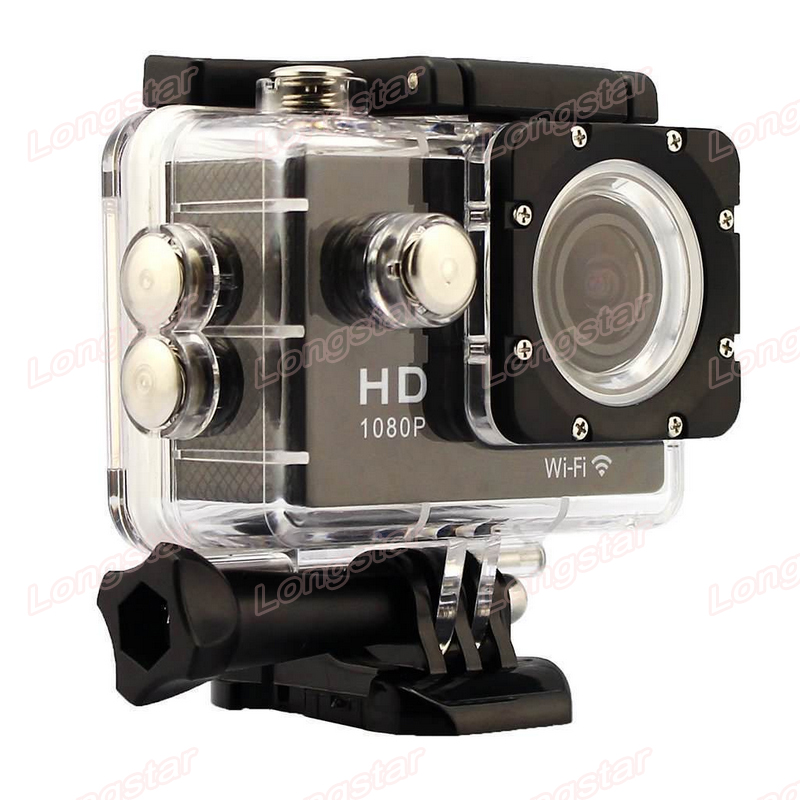 Factory Supply 170degree Wide View Angle Supports FPV Waterproof 30M HD 1080P Wifi Action Camera S2000