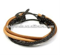 simple braided hemp and leather bracelet diy leather bracelet