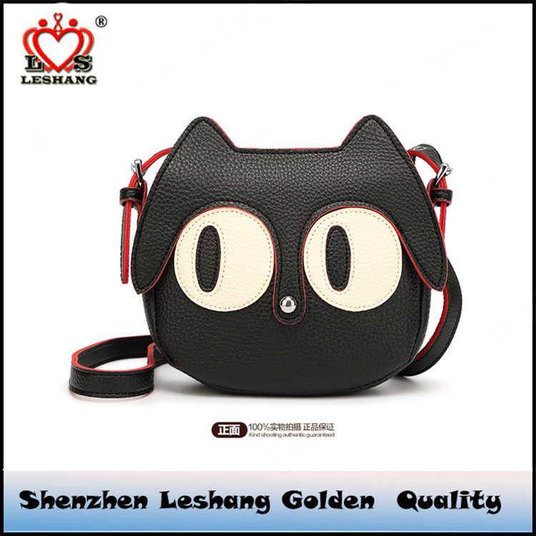 The new spring and summer 2016 fashion cute cat bag, mini package, cartoon all-match Shoulder Messenger Bag
