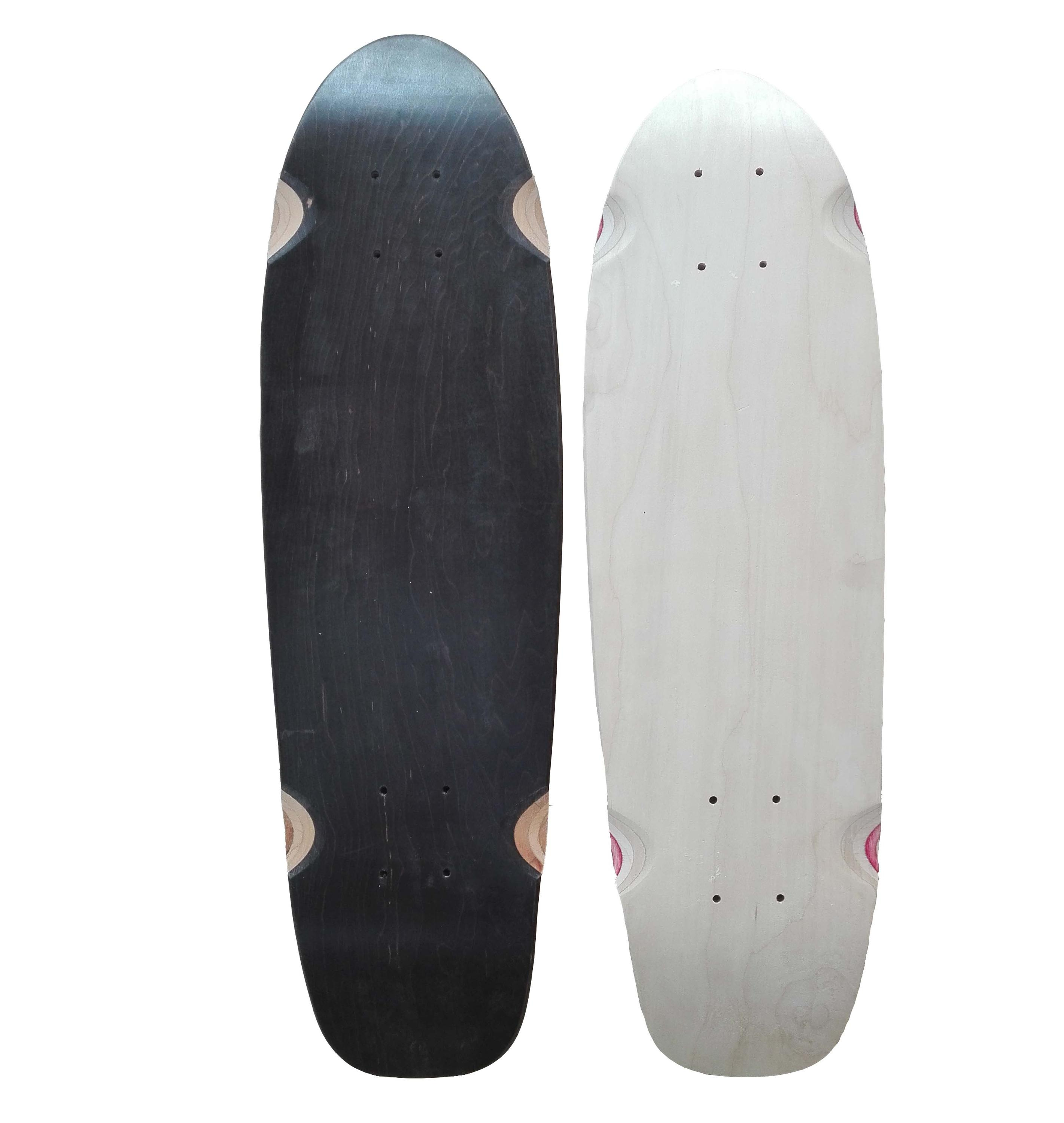 Cruiser 28*8inch 7ply canadian maple deck high quality cruiser skateboard deck with dye color