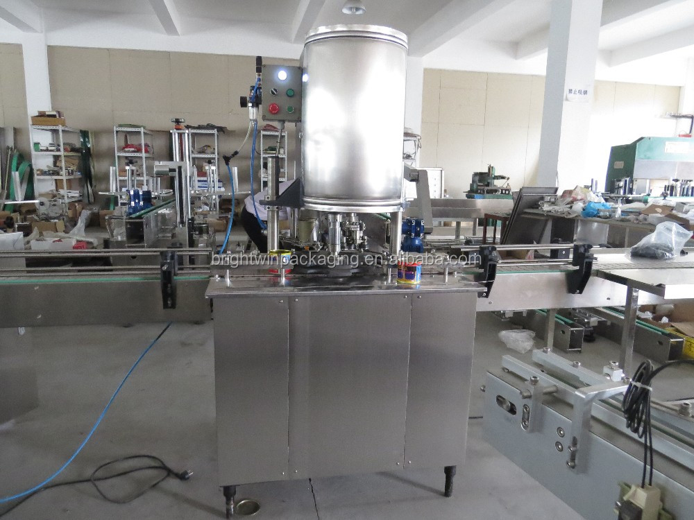automatic sauce can filling capping machine line with CE,ISO9001