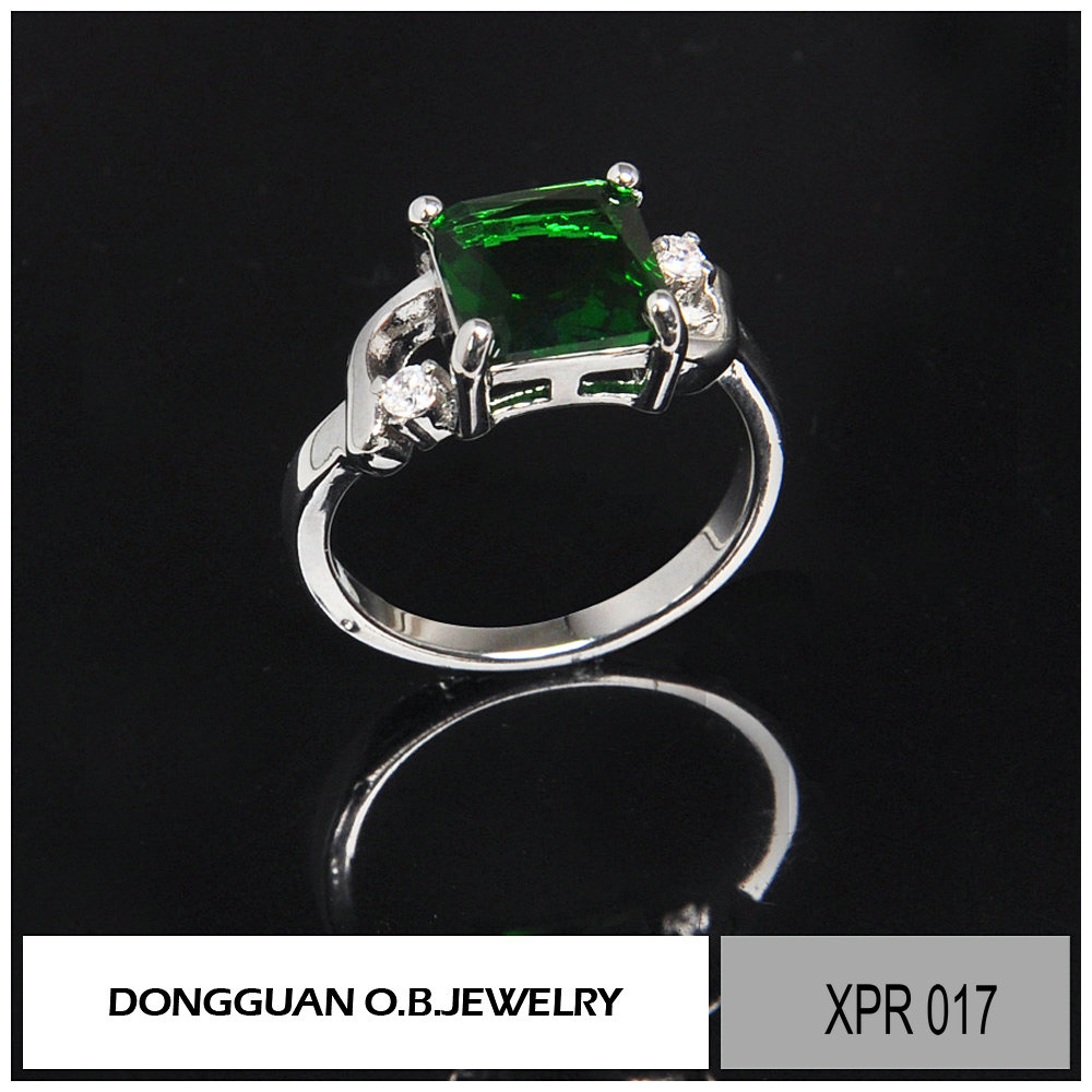 new fashion wholesale jewelry, sterling silver 9.25 emerald jewelry