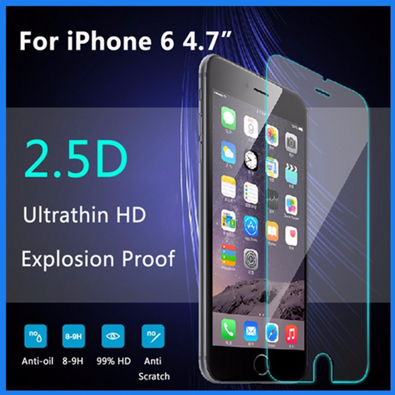 Best price for iphone 6 printed explosion-proof tempered screen protector