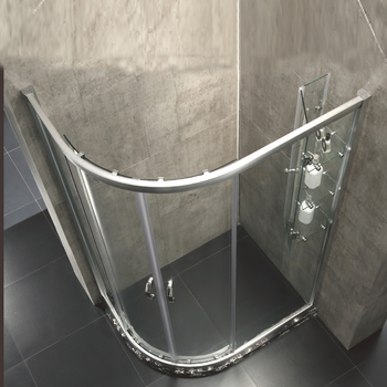 Fan-shape and cambered Aluminum Shower Room