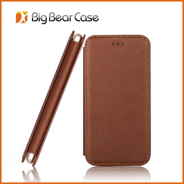 Luxury shockproof leather flip case cover for iphone 6s plus