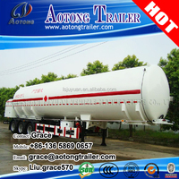 Cheap price 36000 litres - 50000 liters capacity oil transportation tanker fuel tank semi trailer