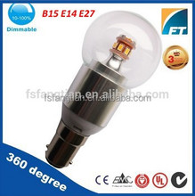 chandelier glass parts G40 Dimmable round led candle bulbs