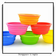 wholesale silicone pet bowl 2015 small travel pet bowlfor small dog