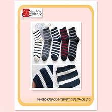 Striped printed sock for man and woman normal basic summer sock