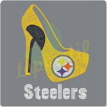 Hot fix rhinestones Steelers,Rhinestone Transfer High Heel Shoes and Boots