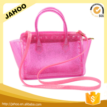 2016 Fashion Design Pink Color PVC Jelly Handbag for Girl