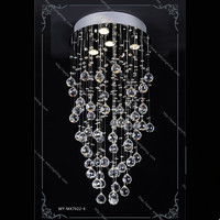 New product unique style gu10 led blub rain drop K9 crystal led ceiling light for hotel/home decorate