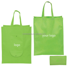Eco portable fold up polyester shopping bag foldable reusable