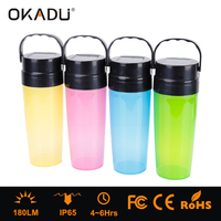 Solar USB Rechargeable Flash Glow in the Dark Read Camping Drinking Water Wine Cola Plastic LED Light Up Cups