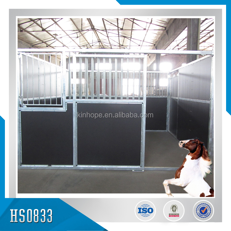 Factory made Indoor Safety Galvanized Horse Stalls horse stable
