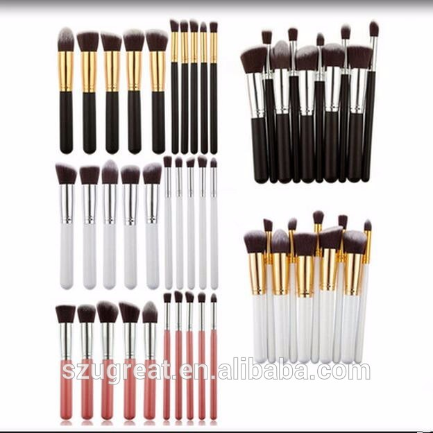 Facial wholesale private label make up brush set makeup brushes