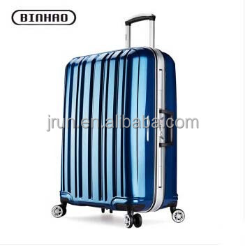 high quality hard case aluminum frame trolley luggage