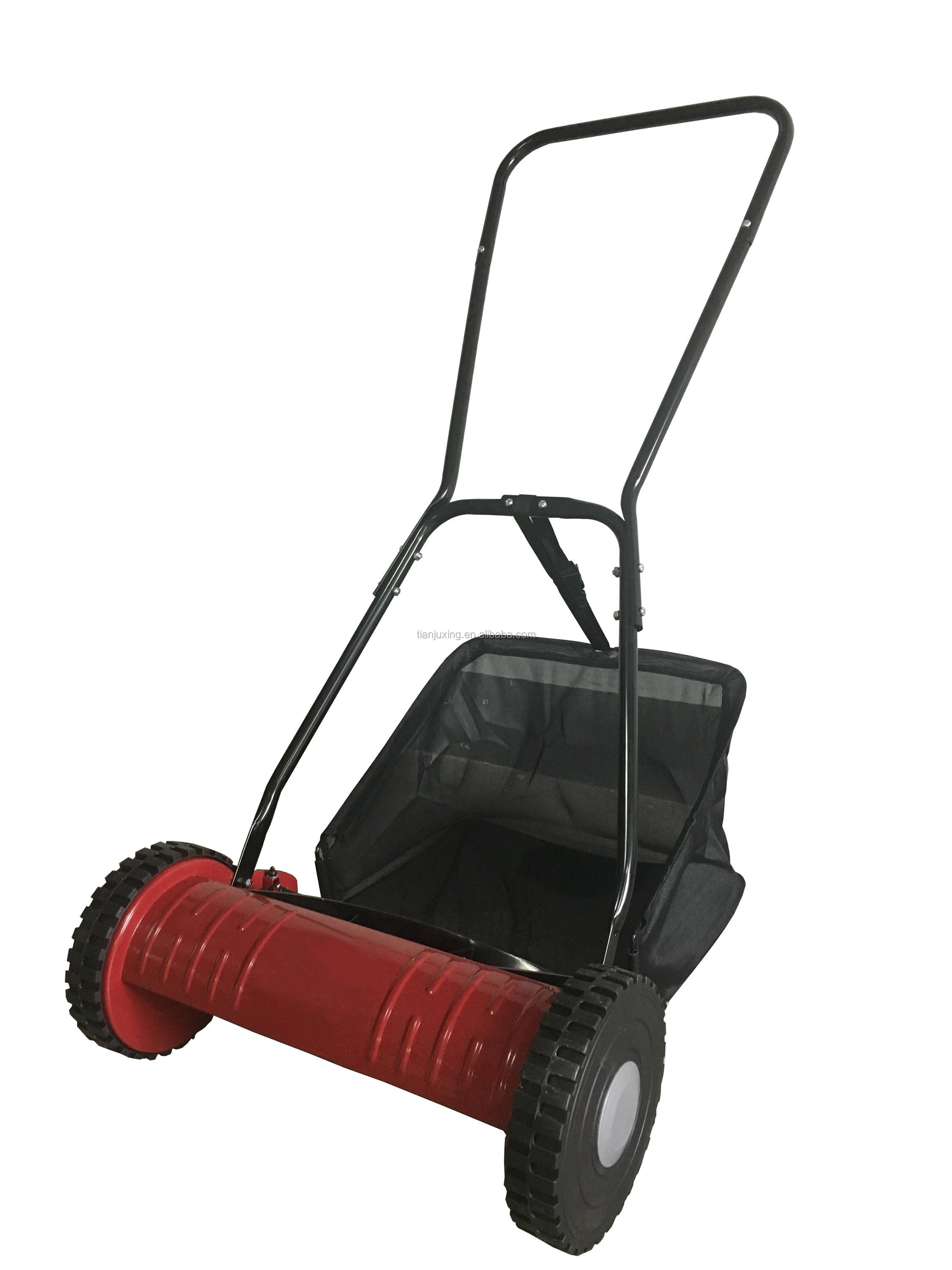 Grass cutting machine grass trimmer manual hand push lawn mower