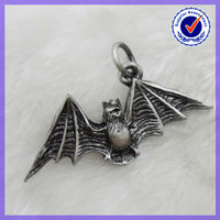 Religious Jewelry Alloy Antique Pewter Charm Bat charm pendant,Metal Charm #16180