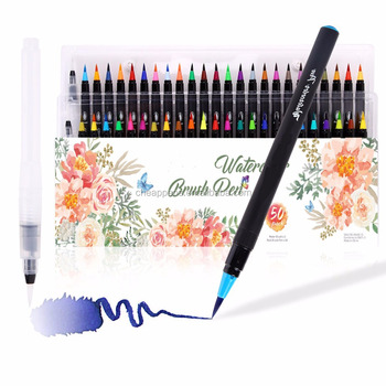 Brush Tip Painting Watercolor Pen High Quality Set-48 50 Colour +1Water Pen