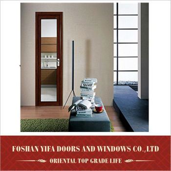 YiFa high quality frosted glass aluminum simple bedroom door designs pictures