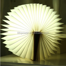 innovative product led book shpaped light with usb charge