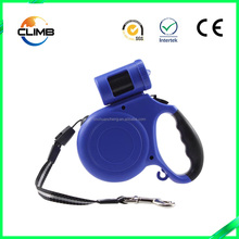 OEM service provided custom logo pet dog Leash 3M 5M with LED flash
