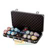 Crown Clay Poker Chip Set With 14g Casino Quality Vintage Style Chips