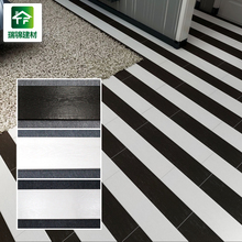 black and white porcelain ceramic floor tiles non slip rectangle wood texture style stone ceramic floor tiles 150 800 400 400cm