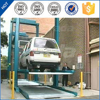pjs 2 post 3 layer auto simple vertical mechanical car parking lift/parking system/parking machine