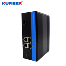 Managed Industrial fiber ethernet switch layer 2 10/100/1000M Managed 5 port sfp industrial switch