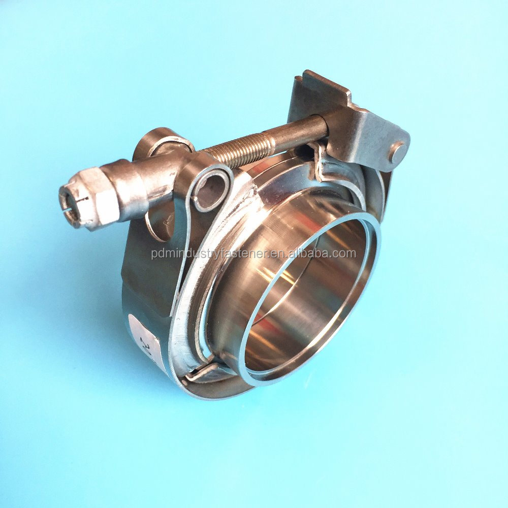 Car Exhaust performance pipe V band clamp and flanges
