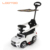 New 4 in 1 toy ride on small model sliding baby swing kids wagon indoor plastic car slide with canopy