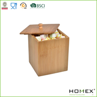 Bamboo Dry Food Canister Container/Homex_FSC/BSCI Factory