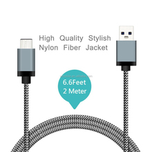 10Gbps Durable Fabric Braided USB 3.1 Type c/Type-c Charging Data Cable For New Macbook With USB C Type Connector