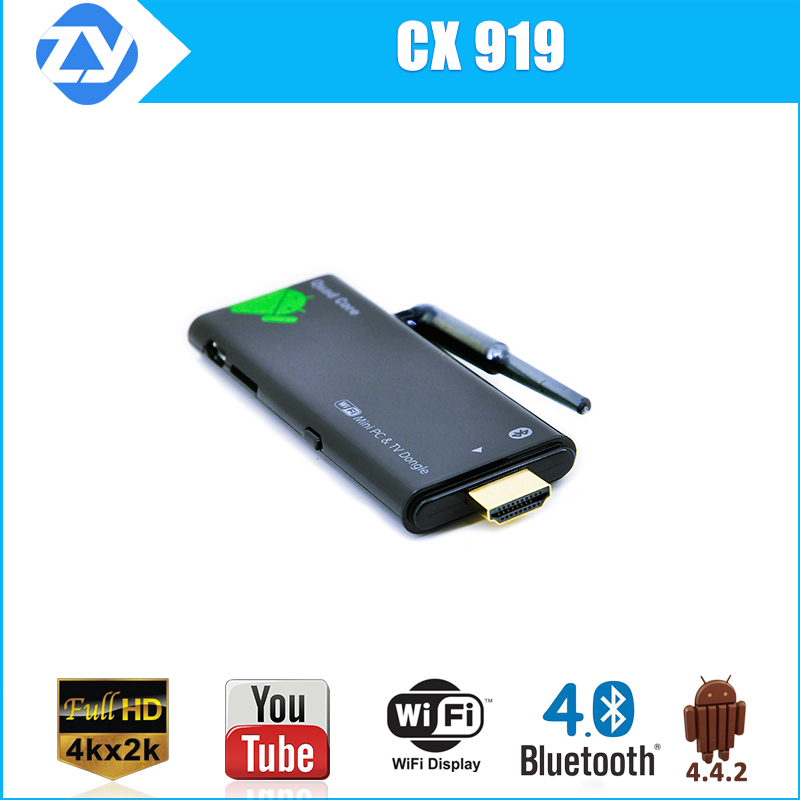 Brand new factory price CX919 Quad core rockchip rk3188 TV dongle bluetooth WiFi Mini PC Android 4.4.2 kitkat full HD tv Stick