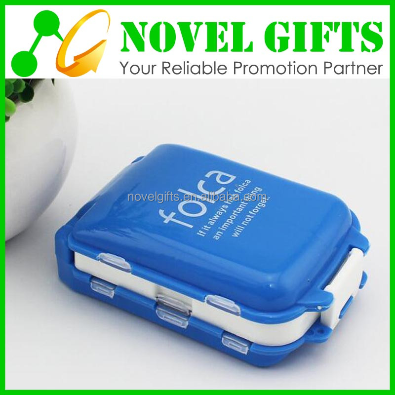 Wholesale Custom 3-layer Travel Pill Box Case with 8 Compartments