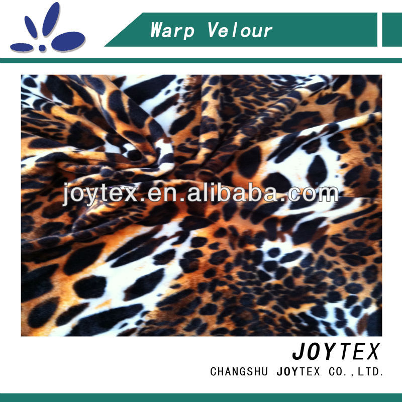 soft velour 90 polyester 10 spandex fabric printed for home textile