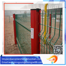 Supplier pvc coated ornamental wrought iron curved mesh fence