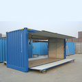 Shipping Container 20ft upturn door container open side container for sale
