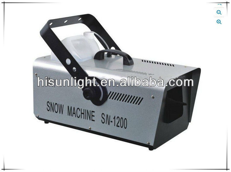 1200W Snow Machine with remote control, artificial snow effect machine, stage effect quipment