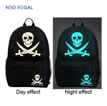 Factory wholesale high college noctilucent school bags with low price promotional outdoor travel noctilucent backpacks