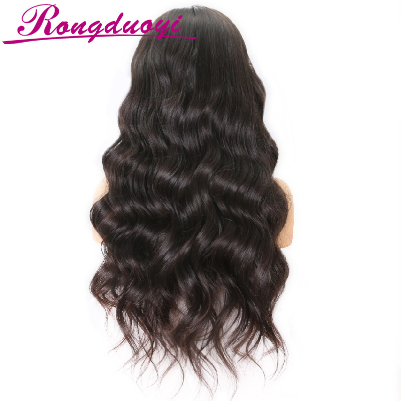 130% to 180% Density brazilian hair full lace wig,unprocessed natural color body wave human hair full lace wig