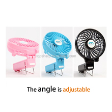 Mini handheld battery powered electric foldable rechargeable led message usb fan