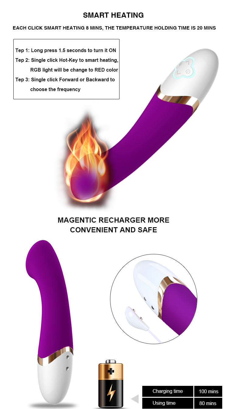 Rechargeable Magnetic Charging Vibrator For Female