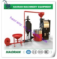 Stainless steel 25kg 30kg 35kg 40kg lpg gas cocoa bean / industrial coffee roaster machine